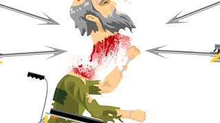 BLOODY HEAD CHOPPED OFF! (HAPPY WHEELS #90)