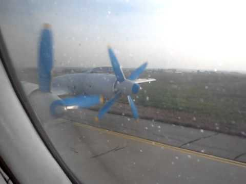 Tandem Aero Il-18D - Engine Start-up, Run-up Check and Departure Rwy 26 from Chişinău Airport (KIV)