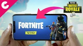 Playing Fortnite Battle Royale on iPhone 🔥🔥🔥 (Invite Codes)