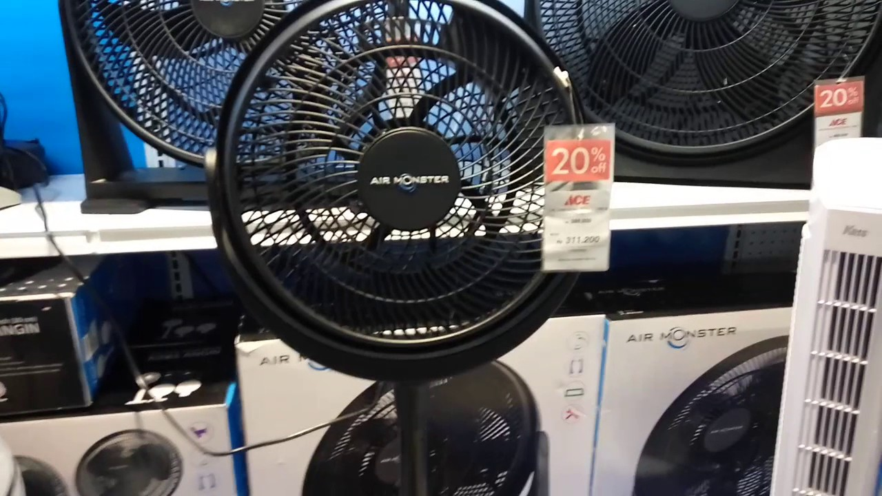 Air Monster 12 Non Oscillating Pedestal Fan Youtube