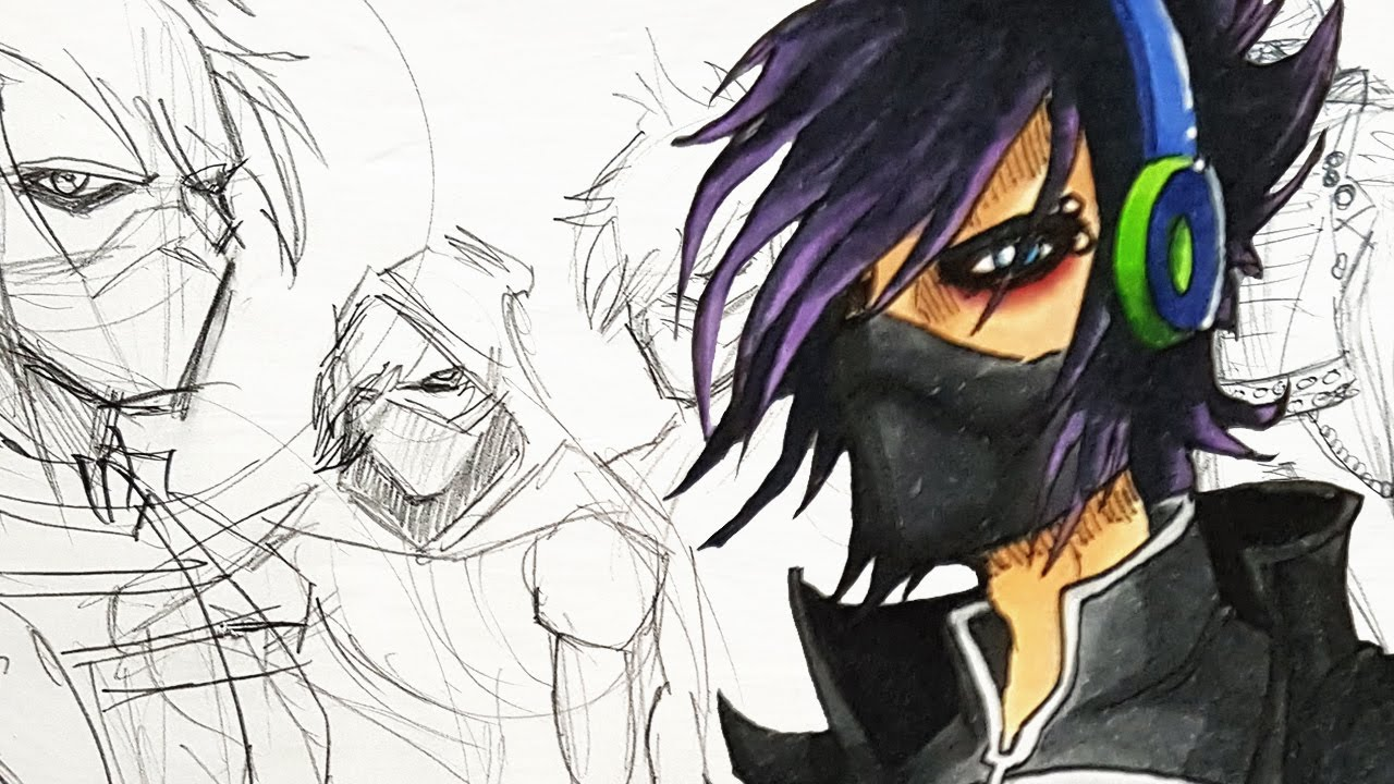 Character Design Session : Emo cyborg ninja character design session youtube