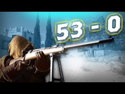 Battlefield 1: Tank Hunter Kit Flawless 53-0 Conquest (PS4 Pro Gameplay)