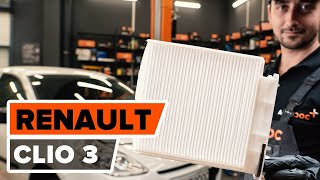 How to replace Cabin filter on RENAULT TWINGO I (C06_) - video tutorial