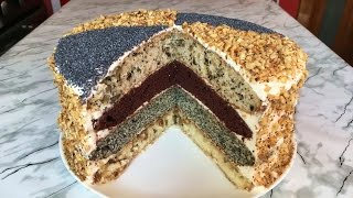 """Торт """"Королевский"""" (Очень Вкусно) / Сметанный Торт / Royal Cake / Пошаговый Рецепт"""