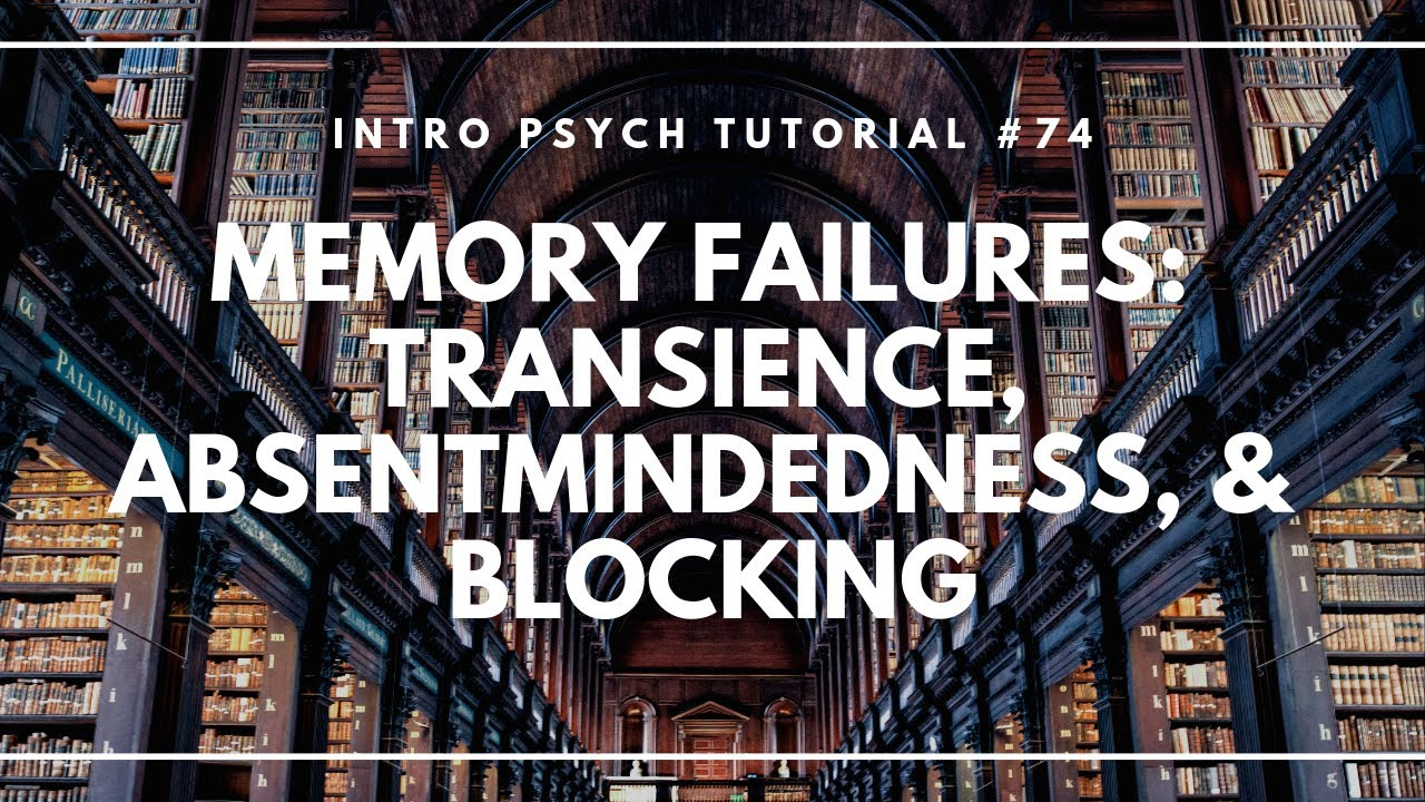 Memory Failures: Transience, Absentmindedness, & Blocking