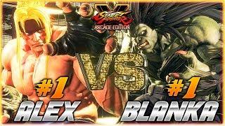 SFV AE ✪ GUNFIGHT (#1 Online ALEX) vs NISHIKIN (#1 Online BLANKA) |  FT5 Set ✪ SF5 TenSFV