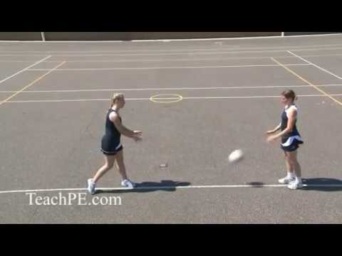 Netball Drill - Passing - The Bounce Pass - YouTube