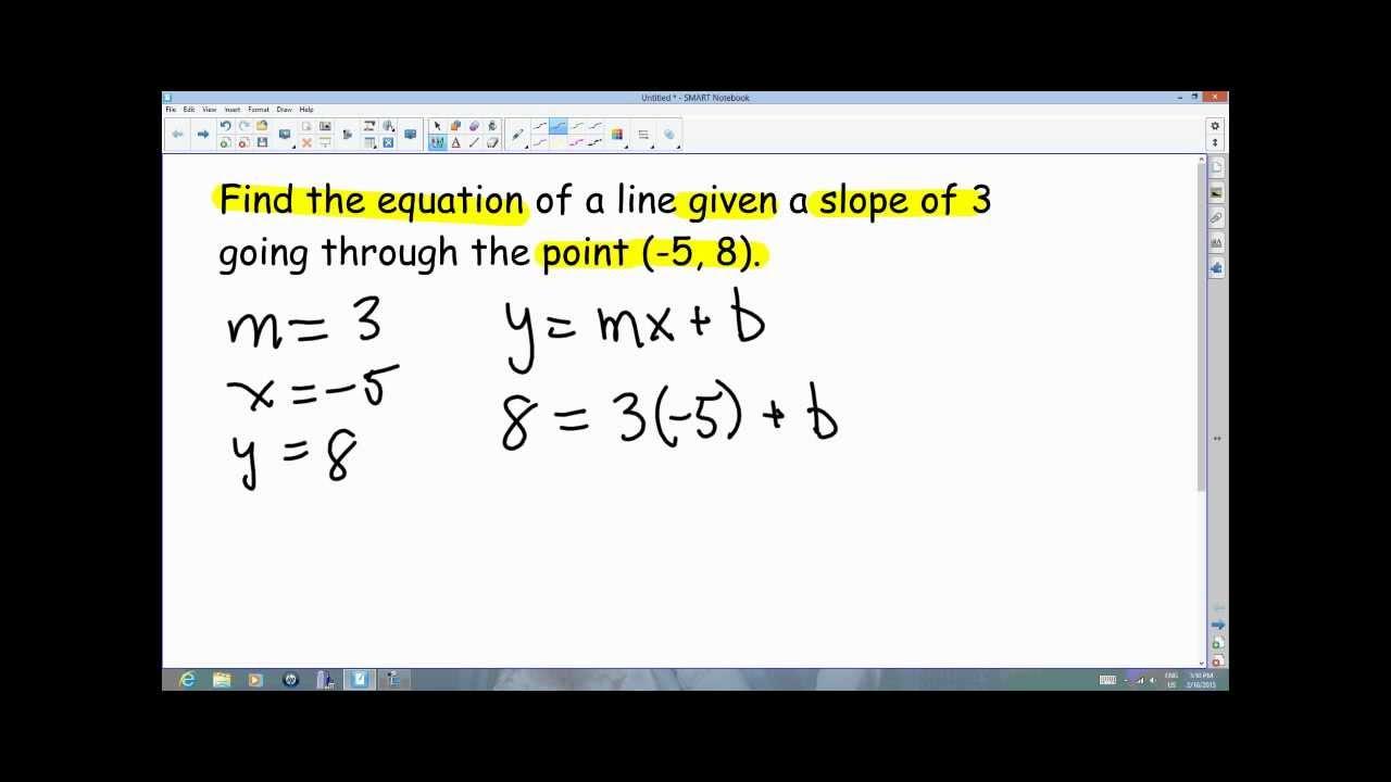 I Solve It That Way (y=mx+b)