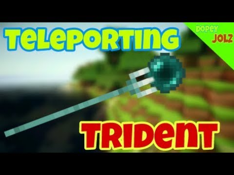 How to make a Teleporting Trident in Minecraft