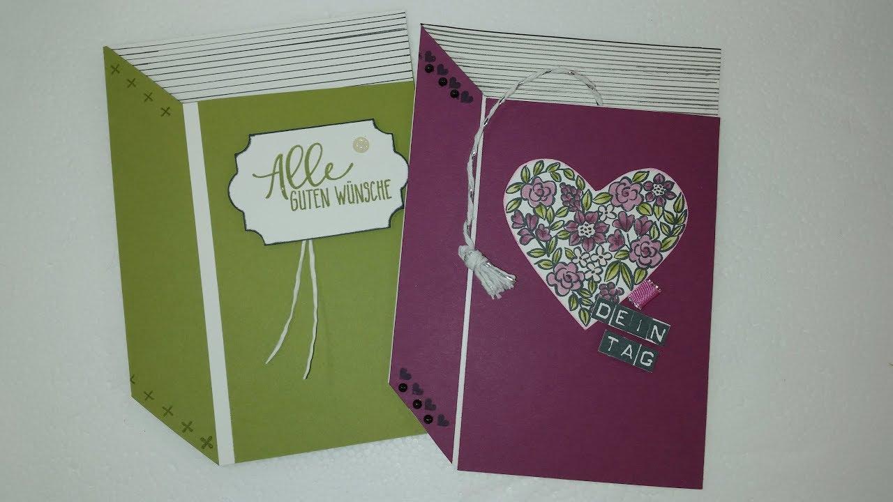 Karten Basteln In Buchform Book Shaped Cards Mit Stampinup