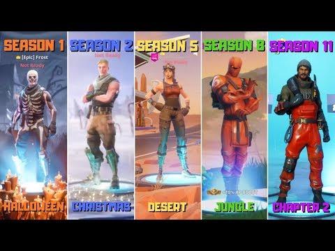 Evolution Of Fortnite Lobby Backgrounds! (Season 1 - Season 11)