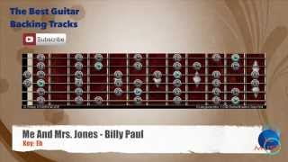 Me And Mrs. Jones - Billy Paul Guitar Backing Track with scale chart