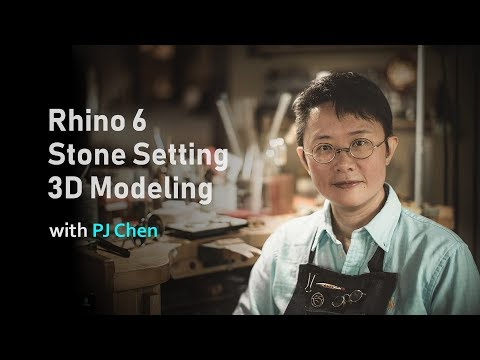 Rhino 6 Jewelry Design Stone Setting 3D Modeling Online Course (2019)
