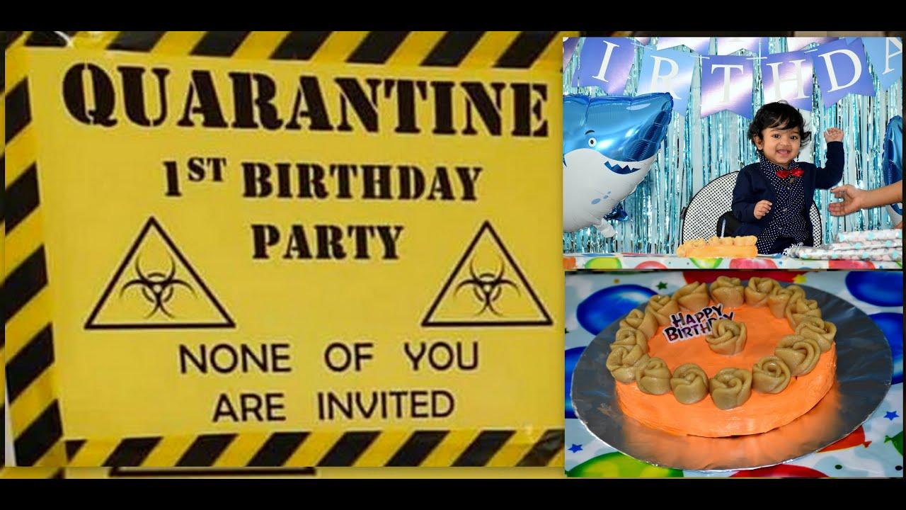 Quarantine 1st Birthday Lock Down Cake Viyaan 1st Birthday Youtube