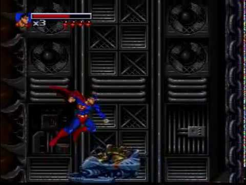 The Death and Return of Superman snes level 1 gameplay