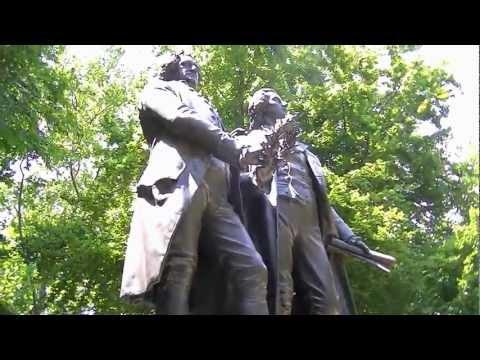 Goethe--Schiller Monument in Cleveland German Cultural Garden