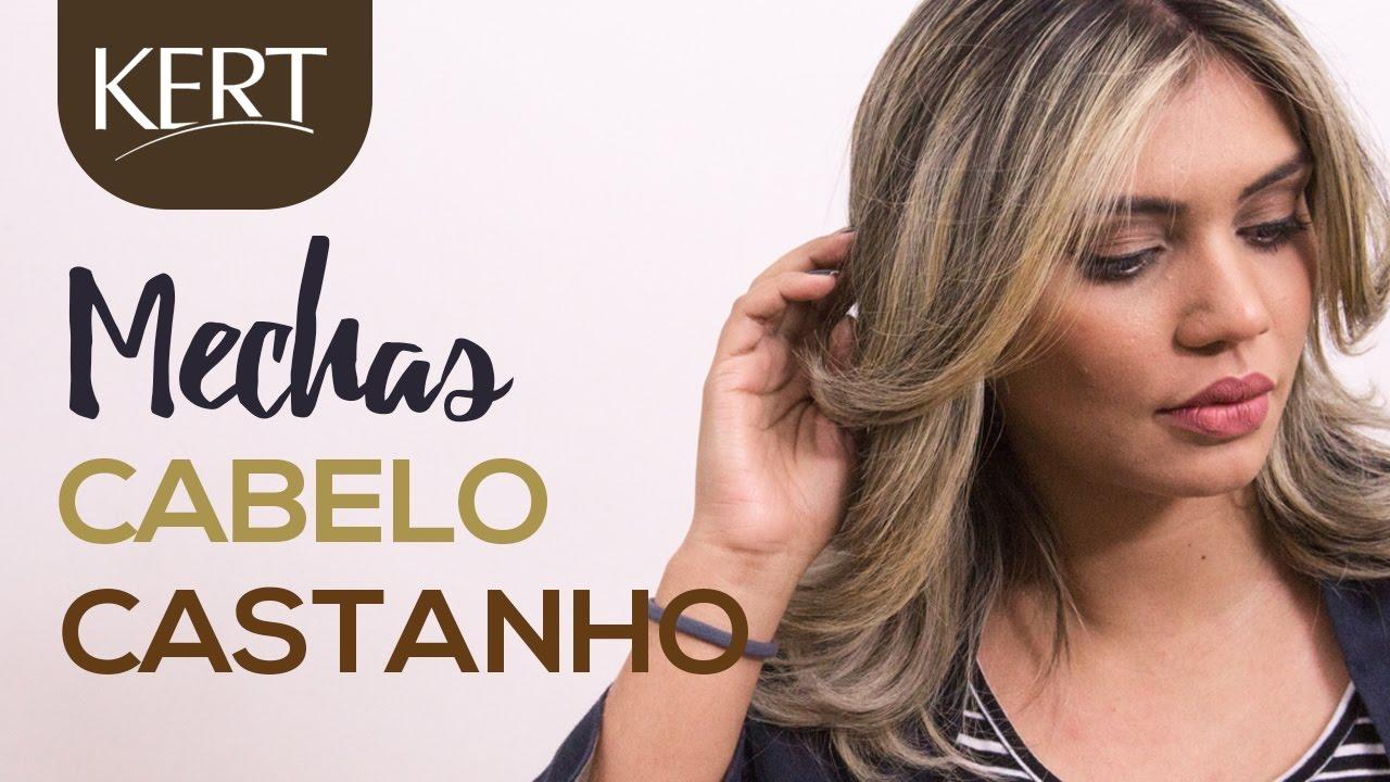 MECHAS EM CABELO CASTANHO - Como fazer - KERT - YouTube