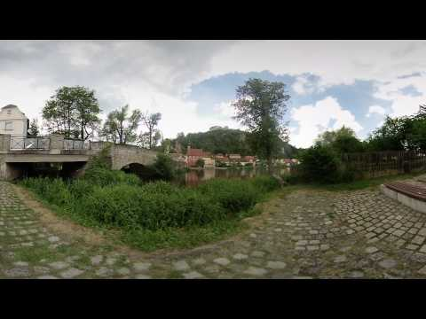 Thumbnail: 360° 3D of Kallmünz by the Naab river. (Vuze Camera)