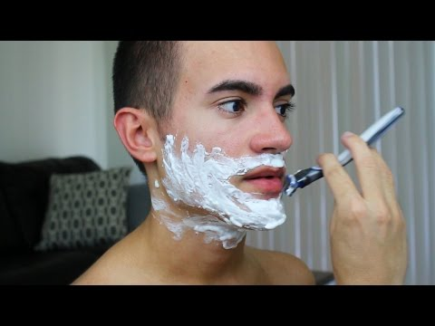 Shaving My Face Routine: water, foam / lather, & razor sounds (ASMR)