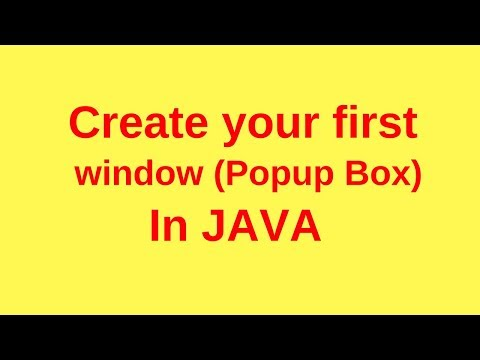 How to create a window(pop up box) in java