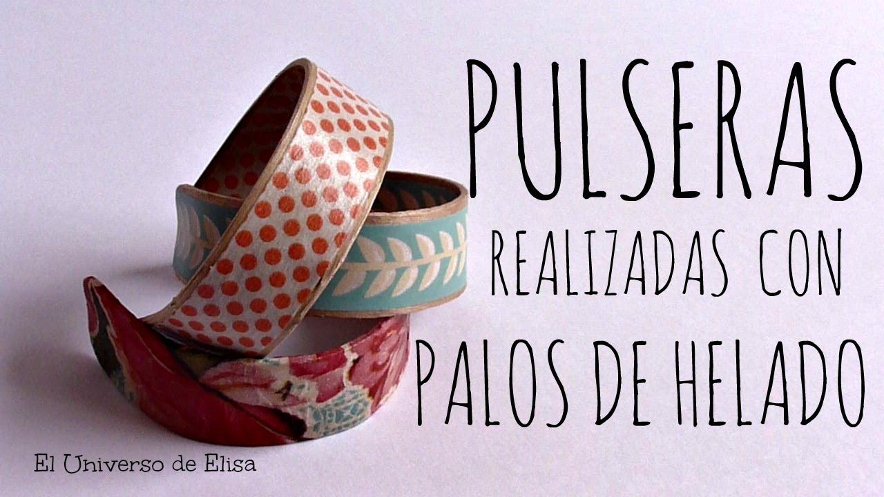 Cmo hacer Pulseras con Palos de Helado Washi Tape y Servilletas de