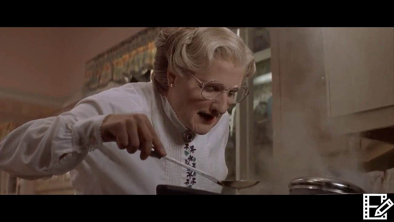 Mrs Doubtfire 1993 Mrs Doubtfire Cooks Dinner But It Goes Wrong Youtube