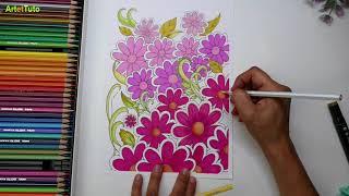 Que Dessiner Quand On S Ennuie Dessin Marguerites Doodle Art Youtube