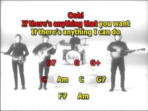 From me to you Beatles best karaoke instrumental lyrics chords