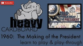 YouTube video 1960: The Making of the President 2p Play-through, Teaching, & Roundtable by Heavy Cardboard