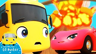WOW! Buster Escapes From An Erupting Volcano | Go Buster! | Bus Cartoons for Kids | Funny Videos