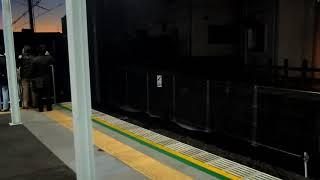 開業初日。羽沢横浜国大駅発の一番電車