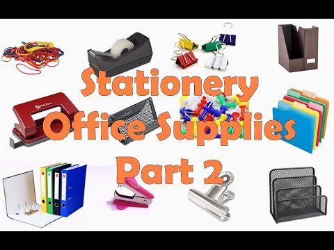 Stationery And Office Supplies Vocabulary. Part 2