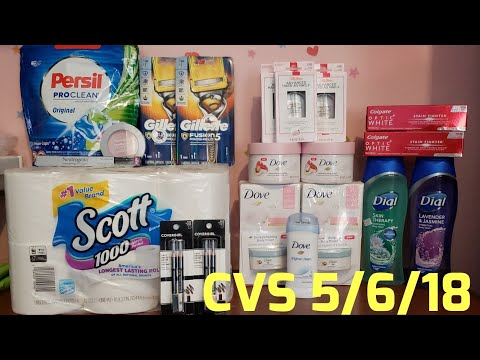 My CVS Couponing Haul for this week 5/6/18