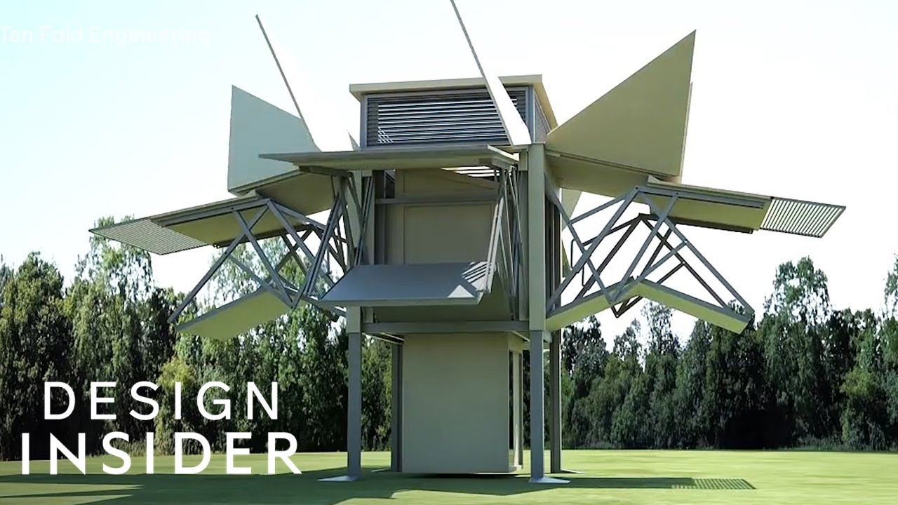 Mobile Home Unfolds Itself In 10 Minutes