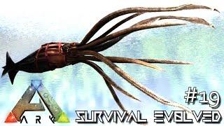 ark survival evolved tusoteuthis taming giant squid new dino e19 modded ark mystic academy