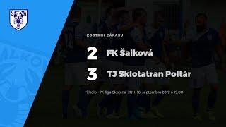 Zostrih zápasu FK Šalková - TJ Sklotatran Poltár, 16.9.2017 o 19:00