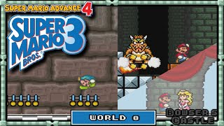 Super Mario Advance 4 - [Super Mario Bros 3] - Playthrough | World 8: Bowser