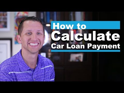 How to calculate car loan payment