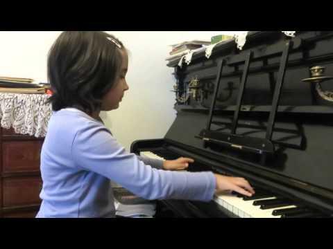 Maria Cristina Badita  Bach inventiune doua voci nr.8 fa major