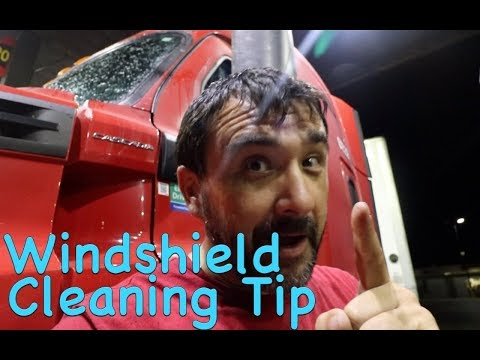 Windshield Cleaning Tip with Trucker Jim