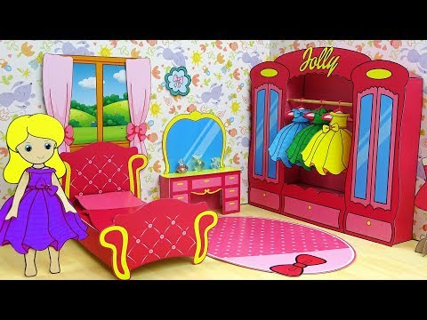 Princess Awesome Bedroom for Paper Doll & Dressing up Paper New Clothes