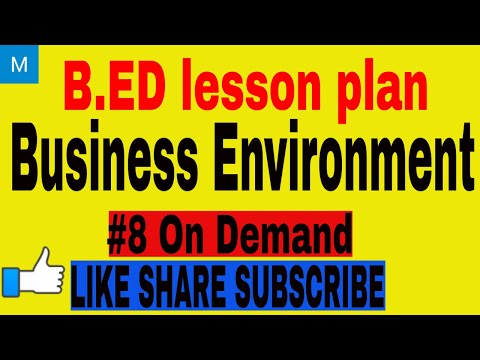 B.ED lesson plan commerce on Business Environment | B.ED lesson plan commerce (10)