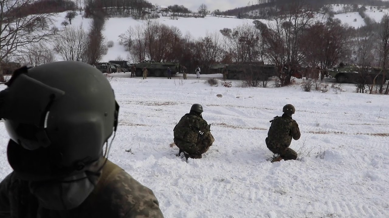 KFOR Units Train Over Kosovo