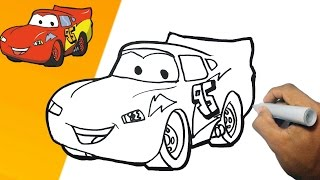Como dibujar a Rayo McQueen  paso a paso | how to draw RAYO MCGEEN step by step