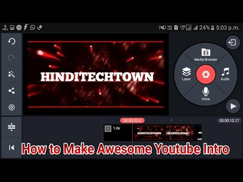 How To make Awesome 3D Youtube intros on any android mobile hindi/urdu