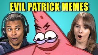 college kids react to evil patrick meme compilation savage patrick