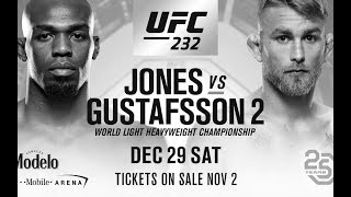 UFC 232 Predictions and Breakdown. Jones Vs Gustafasson 2 & Nunes vs Cyborg