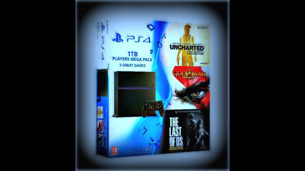 Ps4 Bundle With 1tb Players Mega Pack Uncharted Collection