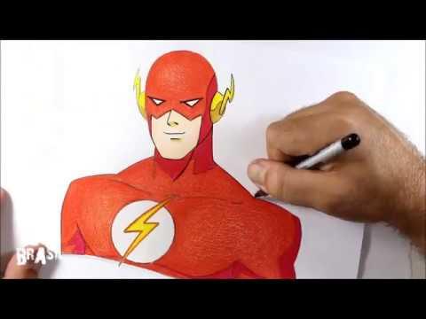Como Desenhar Flash Estilo Cartoon Passo A Passo Youtube