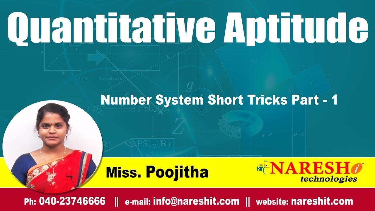 Quantitative aptitude number system tutorial (study material).